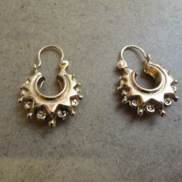 Antique 9ct yellow Gold Ear Rings