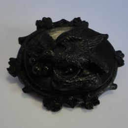 Whitby Black Jet Brooch