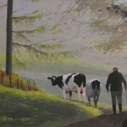 Greogory Moore - 'Bringing in the cows'.