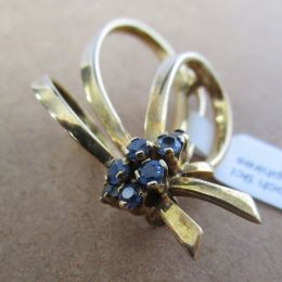 Brooch 9ct - Blue Sapphires