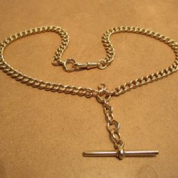 Double Albert 9ct Gold Chain