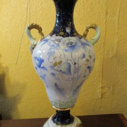 Austrian Porcelain two handled Vase