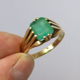 Ring 9ct Gold - Emerald