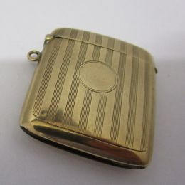 Vesta / Match Case 9ct Gold