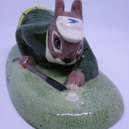 Golfing Porcelain Rabbit