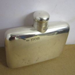 Solid Silver Ladies Hip Flask