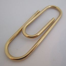 Paper Clip / Book Mark 18 ct Gold