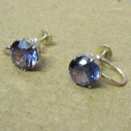 Ear Rings 9ct Gold  Alexandrite