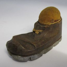 Victorian Pin Cushion - Old Boot
