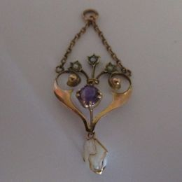 Edwardian 9ct gold  Lavaliere