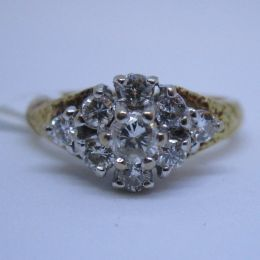 Ring 18ct Gold - Diamonds