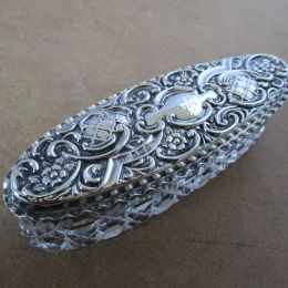 Silver Trinket Box and Cut Glass