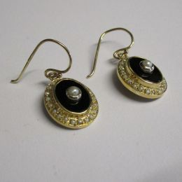 Ear Rings 9ct Gold Pearl