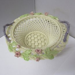 Belleek porcelain Basket with handles