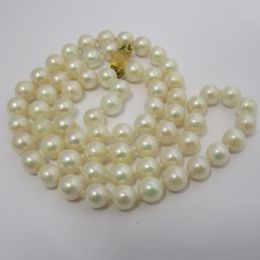 Pearl Necklace - 9ct gold clasp