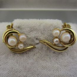 Ear Rings Clip On 9ct - Pearl