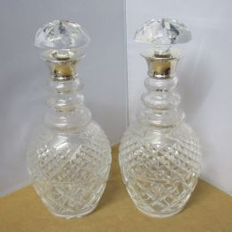 Crystal Decanters - Pair