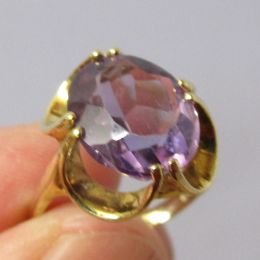 Ring 9ct Gold - Amethyst
