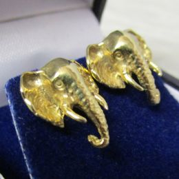 Ear Rings 9ct Gold - Elephant head