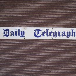 Metal Sign 'Daily Telgraph'