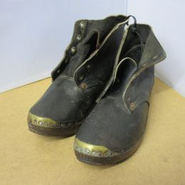 Victorian leather clogs / shoes