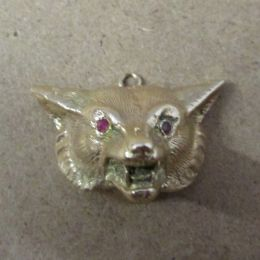 Vintage 9ct Gold Charm / Pendant  - Fox