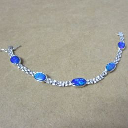 Bracelet 18ct White Gold - Opals