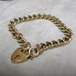 Albert Bracelet 9ct Gold Antique