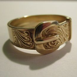 Gents Ring 9ct Gold - Buckle