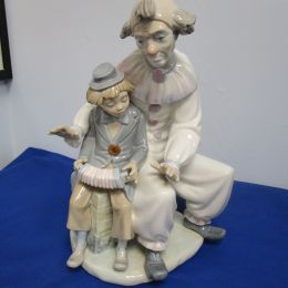 Nao Spanish porcelain figurine CLOWNS