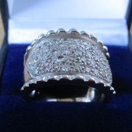 Ring 9ct White Gold - Diamonds