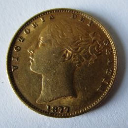 Gold Sovereign Victoria 1877 Young Head