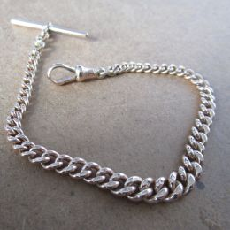 Bracelet Albert Chain 9ct Rose Gold T Bar