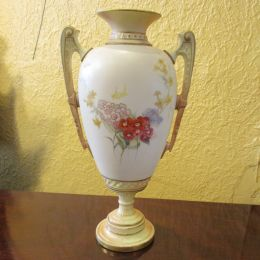 Royal Worcester twin handled vase.