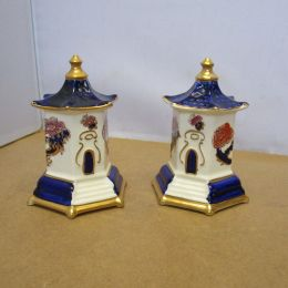 Masons Hexagonal Pagodas  PAIR