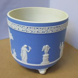 Wedgwood blue Jasperware planter