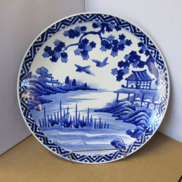 Charger Plate Blue and White