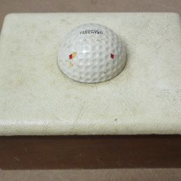 Wooden Box with Golf Ball Lid