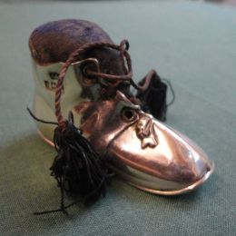Silver Pin Cushion - 'An Old Boot'