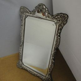 Sterling Silver Mirror Frame