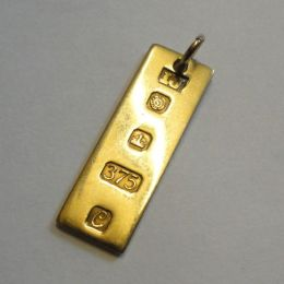 9ct Gold Ingot / Pendant