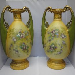 Pair of Austrian 'Turn' Vases