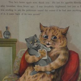 Louis Wain Cat Print