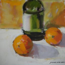 Denis Orme Shaw -  'Bottle with Oranges'
