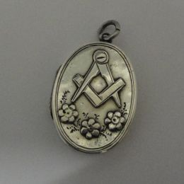 Antique Sterling Silver Masonic Locket
