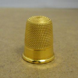 Vintage Solid 9ct Gold Sewing Thimble