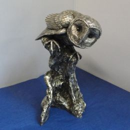 Solid Silver Model of an Owl
