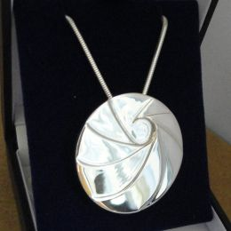 Designer Silver Pendant with Chain 1