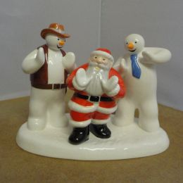 Coalport figurine - Father Christmas Line Dancing