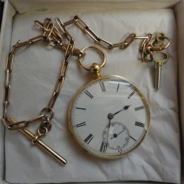 Pocket Watch - 18ct Gold with chain
